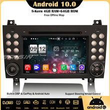 Erisin 8740 8 Core Android 10DAB+DSP Car Stereo CarPlay OBD GPS Wifi SWC Bluetooth DVR Canbus For Mercedes Benz SLK Class R171