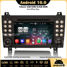 OBD Bluetooth Carplay R171 Android Canbus Mercedes-Benz Car-Stereo Erisin DSP 4 for Slk-Class/r171