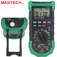 Multímetro Digital MASTECH MS8229 5 en 1  probador de humedad y temperatura de iluminación de ruido  herramienta de diagnóstico  rango automático retroiluminación lcd|Multímetros| |  -