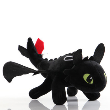 Dragon Lying Pose Black And White Dragon Doll Yesha Little White Dragon Toothless Master Plush Toy Lying Dragon            Sp082 dragon