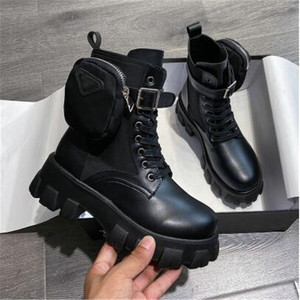 2020 Autumn Winter New Women's Thick-Soled Leather Martin Boots Casual Women's Boots Women's Fashion Lace-Up High Boots