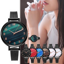 Fashion Quartz Movement High Quality WOKAI SHSHD Women Stainless Steel Mesh Rose Gold Waterproof Ladies Watch Dropshipping