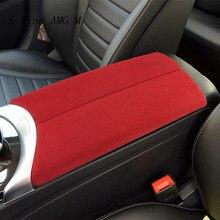 Autocollant en daim ABS pour boîte d'accoudoir de voiture, pour Mercedes Benz classe C W205 GLC X253, couvercle de Console centrale, accessoires de garniture