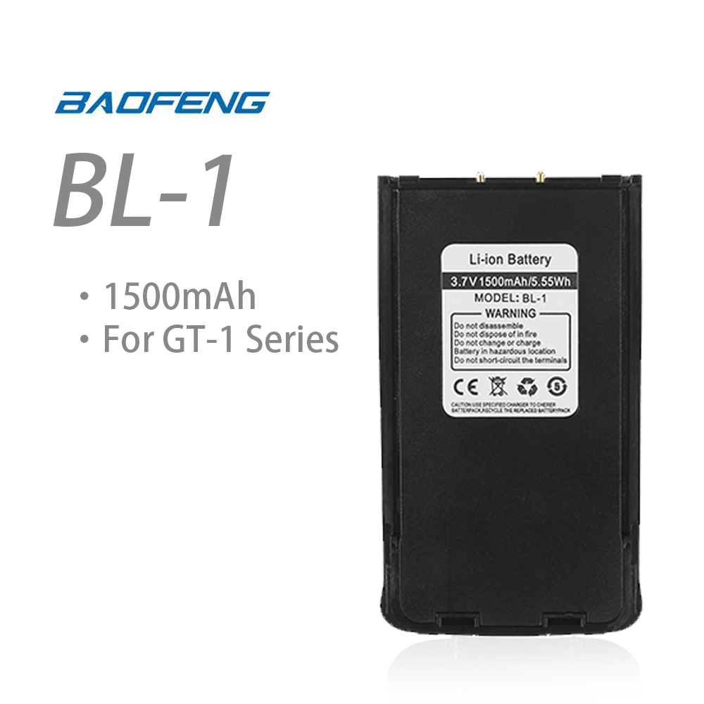 Original 3.7V 1500mAh Li-ion Battery For Baofeng GT-1 Ham Two-way Radio Walkie Talkie Baofeng Accessories