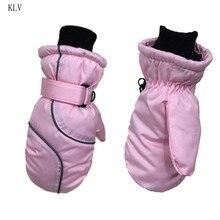 Зимние лыжные перчатки для детей ясельного возраста, водонепроницаемые, ветрозащитные, одноцветные, в стиле пэчворк, утепленные, регулируемые, эластичные варежки, От 5 до 9 лет