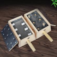 Drewniane pudełko Moxibustion pałeczki moksy uchwyt szyi ramię ciała Acupoint ciepły masaż urządzenie do terapii Moxibuting chiński medyczny tanie tanio PAQIN CN (pochodzenie) Natural wood BODY