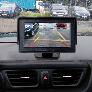 Image 5 - ZIQIAO 4.3 인치 TFT LCD 주차 모니터와 HD 반전 후면보기 카메라 옵션 P01