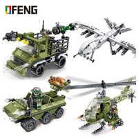 Equipo pesado militar de hierro sangre helicóptero Vehículo de bloques de construcción arma figuras ladrillos Kits juguetes para niños regalo