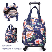 Trolley Travel Bags for Women Luggage cart sets Suitcase on wheels with Rolling free shipping elementary school backpack trolley