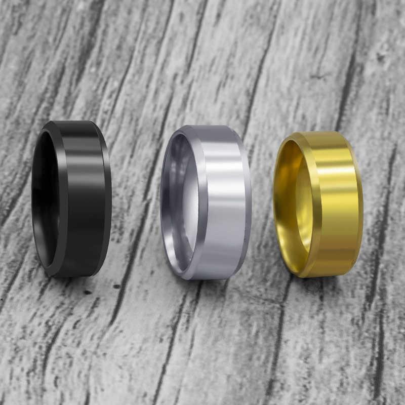 Модные Простые матовые кольца из нержавеющей стали 316L для женщин, 2020 ювелирные изделия, оптовая продажа, вечерние, подарок, Прямая поставка