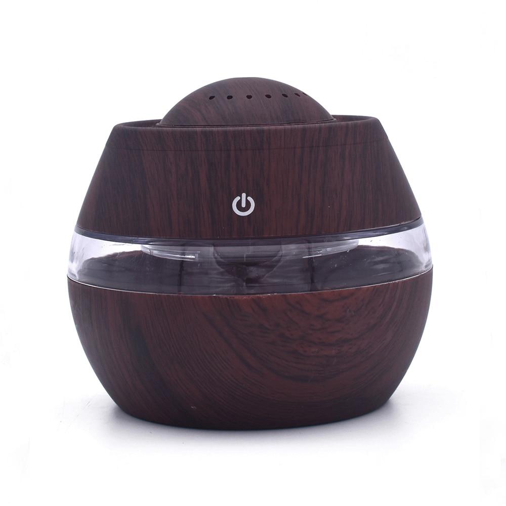 Арома диффузор USB увлажнитель воздуха древесины ультразвуковой эфирный распылитель ароматических масел красочные лампы создатель тумана