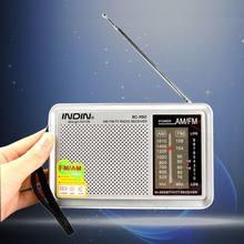 Radio AM/FM Portable avec haut-parleur intégré, récepteur de poche, avec prise casque, antenne télescopique, légère (argent)
