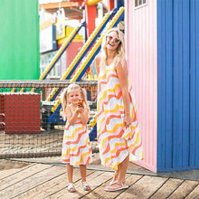 Mom and Daughter Dress Rainbow Stripe Long Matching Dresses Summer Family Look Mother Daughter Dresses 2018 summer maxi dress bohemian mother daughter dresses matching mother and daughter clothes family look girl and mother dress