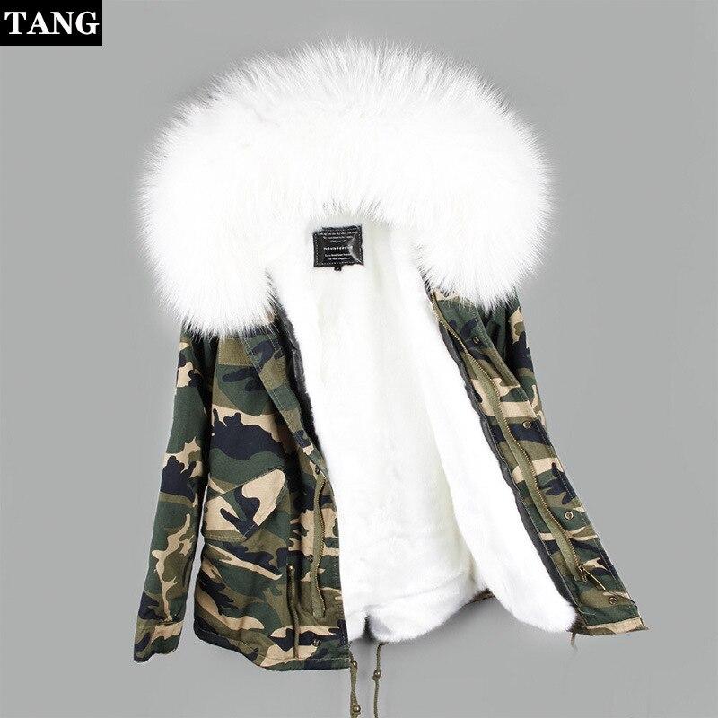Hiver Super grande fourrure de raton laveur col manteaux femmes coton manteau chaud à capuche cordon vestes décontracté vêtement d'extérieur parka