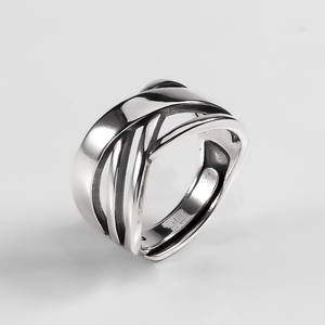 Image 5 - Ckysee Unique Simple 925 Sterling Silver Adjustable Rings Braided Band Multi layers Finger Ring 925 Silver Jewelry