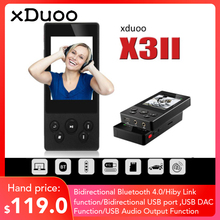 Xduoo X3II X3 II MP3 Music Player bluetooth 4.0 AK4490 Hi Fi Audio Mp 3 Dsd Mini Mp3 Decoder Players for Support 256GB