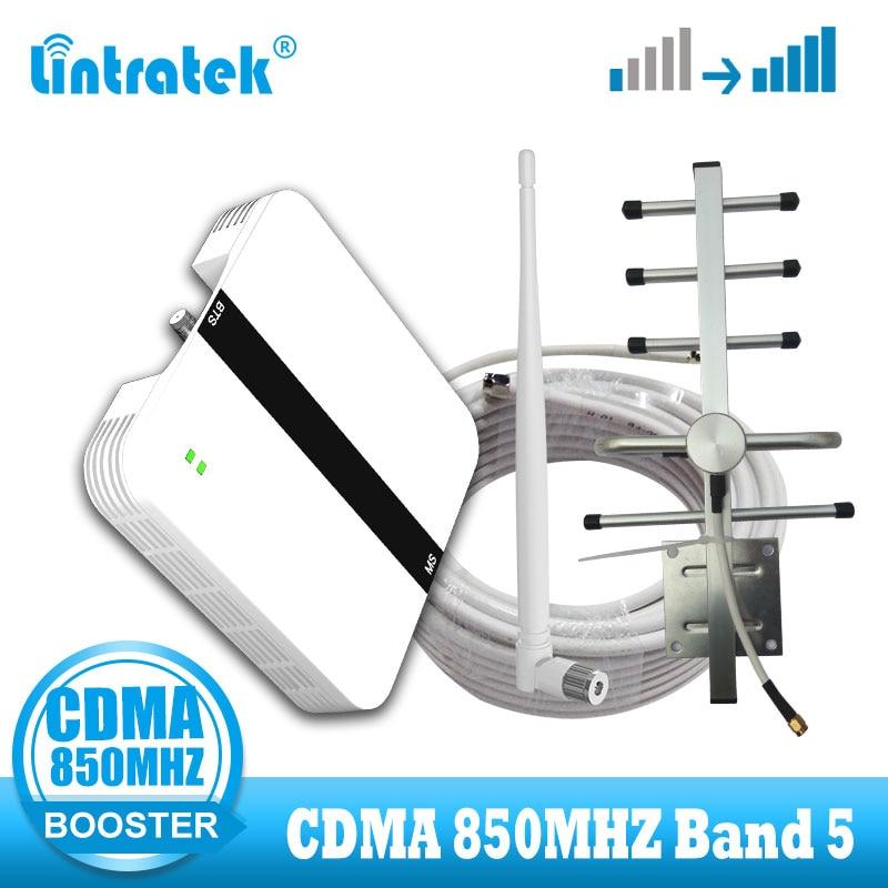 Lintratek CDMA 850MHZ 2G Cell Phone Signal Booster 850 Internet Network Celluar Repeater Band 5 Amplifier De Sinal Celular 2g 3g