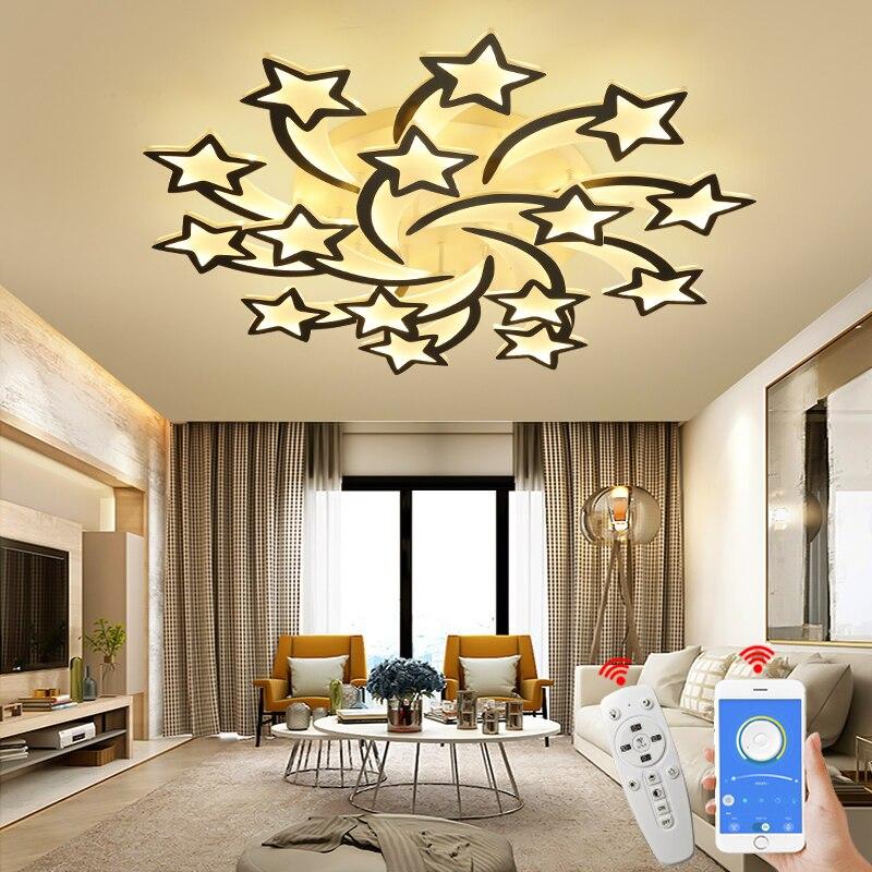 NEO Gleam Moderne LED kronleuchter mit APP fernbedienung wohnzimmer schlafzimmer hause kronleuchter beleuchtung Freies Verschiffen AC90-260V