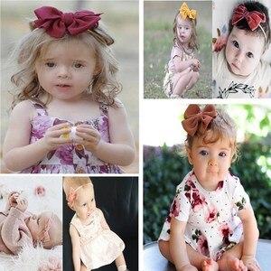 Image 5 - 20 יח\חבילה תינוק בנות קטן קשת סרט תינוק קשת קשר ניילון סרט חמוד יילוד כיסוי ראש אביזרי שיער תינוק סרט מתנות