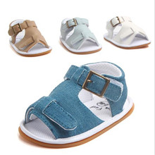 Fashion Baby Summer Shoes Infants PU First Walkers Anti Slip Newborn Bo