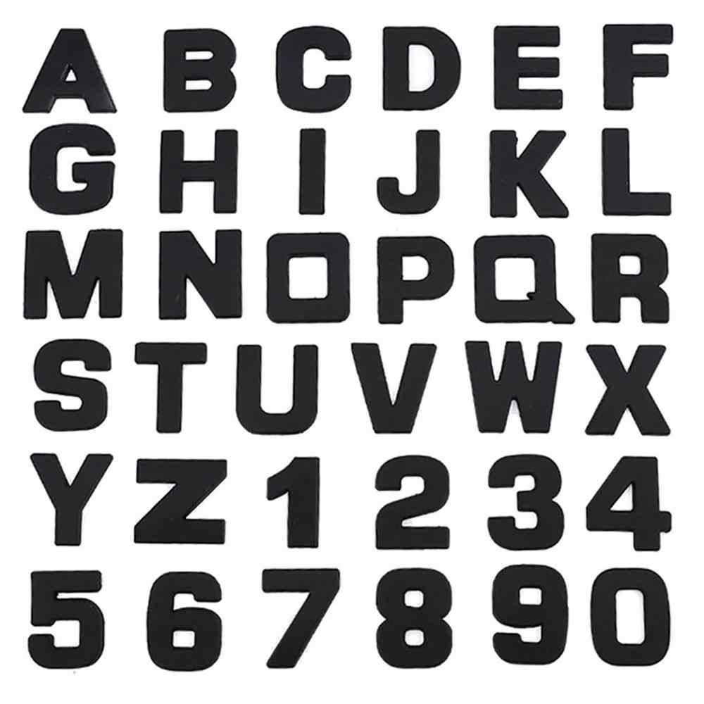 Voiture 3D lettre voiture autocollants anglais lettres voiture logo bricolage alphanumérique métal carrosserie autocollants mot marque queue argent