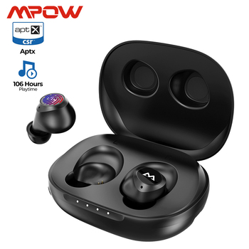 Mpow M20 True Wireless Earphone iPX7 Waterproof aptX Bass+ Bluetooth 5.0 Earbuds 106h Playtime For iPhone 11 SE Xiaomi Samsung