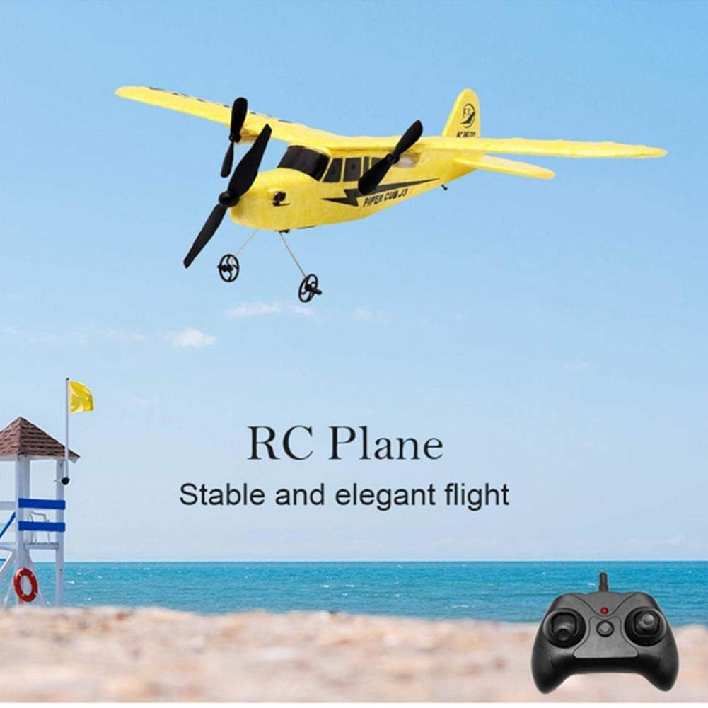 Remote Control Glider Plane 2.4GHz Rechargeable Drone Fixed Wing Aircraft Toys With 2 Channel image