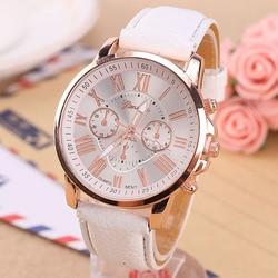 Relógio de pulso de quartzo de couro da marca de luxo quente relógio de pulso das senhoras dos homens