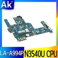 For HP 15-R 15T-R 15-S 788287-001 788287-501 788287-601 laptop motherboard ZSO50 LA-A994P W/SR1YW N3540 CPU 100% Tested