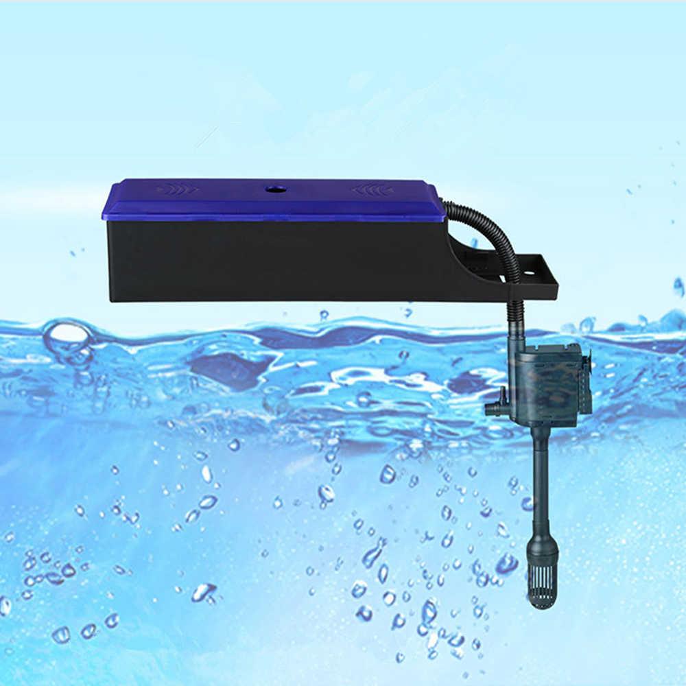 Akuarium Filter Menetes Atas Ikan Tangki Air Aqua Filter Plastik Aquarium Air Eksternal Filter Sistem Pompa Produk Hewan Peliharaan