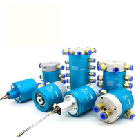Pneumatic Rotary Conductive Slip Ring 12 4 6 8 Passages Waster Electric Air Joint Slip Ring