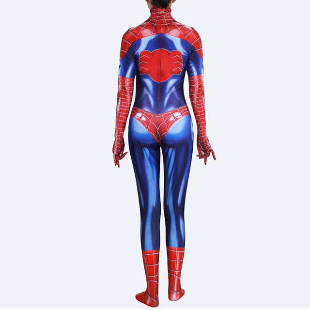 MJ Mary Jane Cosplay Costumes Lycra Bodysuit Suit Zentai Jumpsuits Halloween costumes Adult Kids