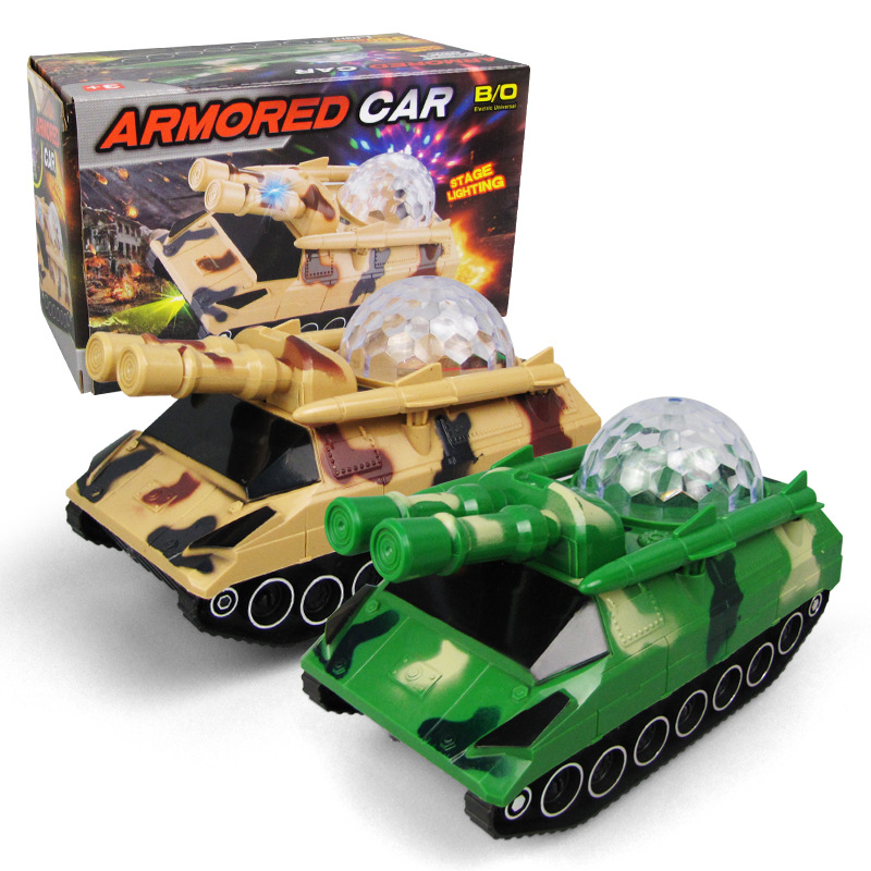 Electric Educational Tank Model Universal Music Shining Military Model Toy CHILDREN'S Toy Wholesale