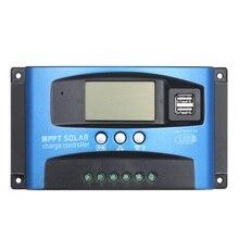 Contrôleur de Charge MPPT pour panneaux solaires, 12/24V, 30/40/50/60/100A, régulateur avec écran LCD et double port USB