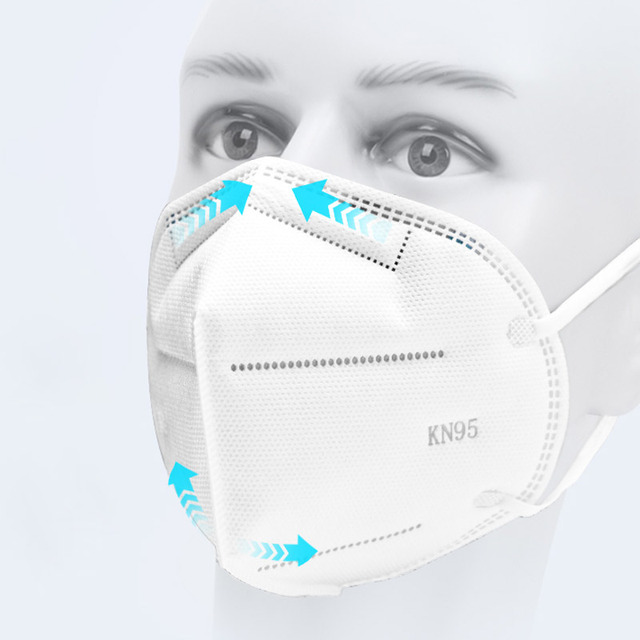 N95 mask 4 Layers Face Masks Mascherine Antivirus Flu Anti ...