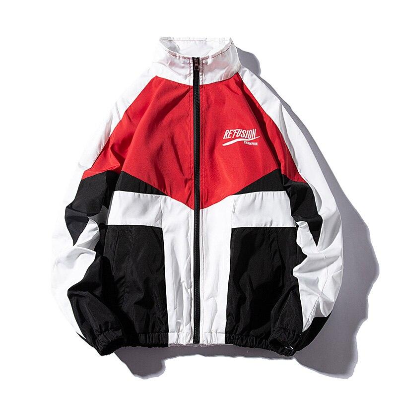 LES KOMAN Spring Autumn Men Jacket  HipHop Casul Streetwear  Sports Coats Windbreaker Outwear