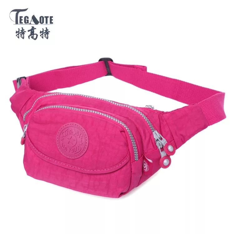 Women Men Nylon Waist Pack Adjustable Chest Bags Girls Sports Hip Money Kidney Belt Bag Travel Mobile Phone Fanny Pack Bum Pouch