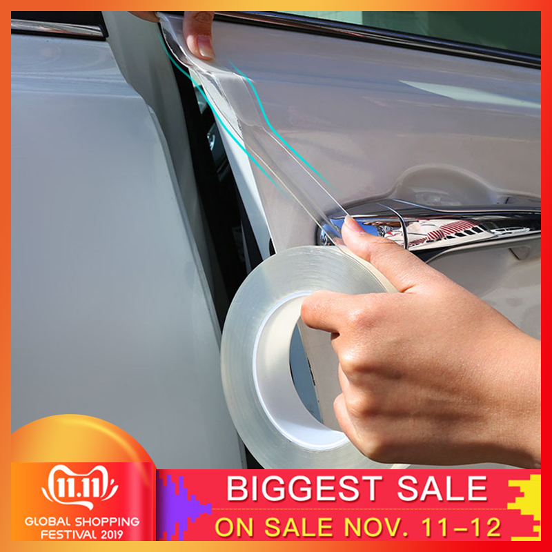 3M Nano Glue Car Sticker Auto Interior Protector Film Door Edge Protective Car Trunk Door Sill Full Body Sticker Vinyl Accessory
