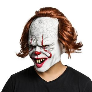 Image 4 - Joker Mask Movie Batman The Dark Knight Cosplay Horror Scary Clown Mask with Green Hair Wig Halloween Latex Mask Party Costume