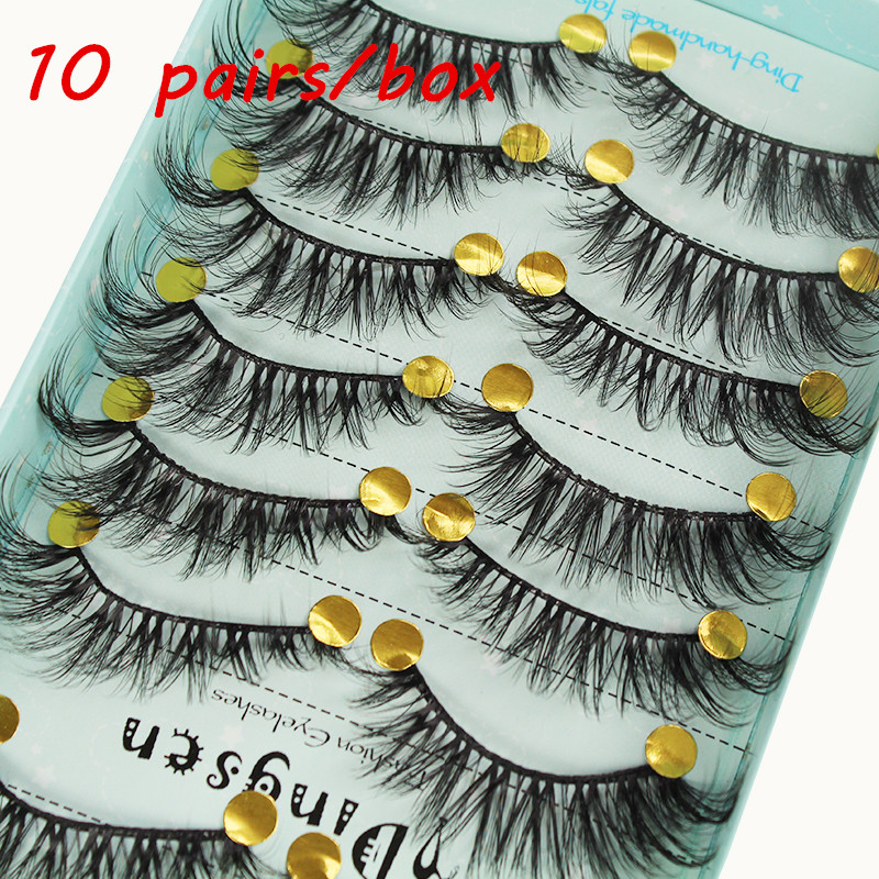 10 Pairs 3D Lashes Soft  High Quality Artificial Mink Eyelashes Natural False Eyelashes Fluffy Eyelashes Extended Makeup Tools