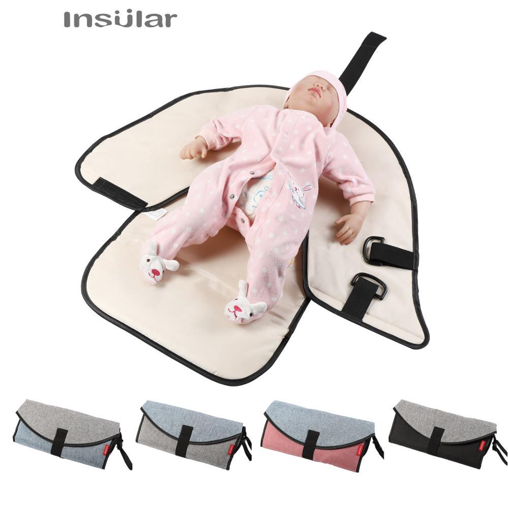 Baby Diaper Waterproof Changing Pad Diaper Travel Portable Diaper Changing Mat Table Newborn Kids Stroller Bag Diaper Change Mat