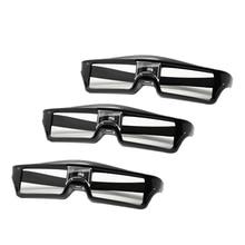 3Pcs/Lots Professional Universal Dlp Link Shutter Active 3D Glasses for 3D Ready Dlp Projector brand new dlp projector color wheel for acer ev s13h