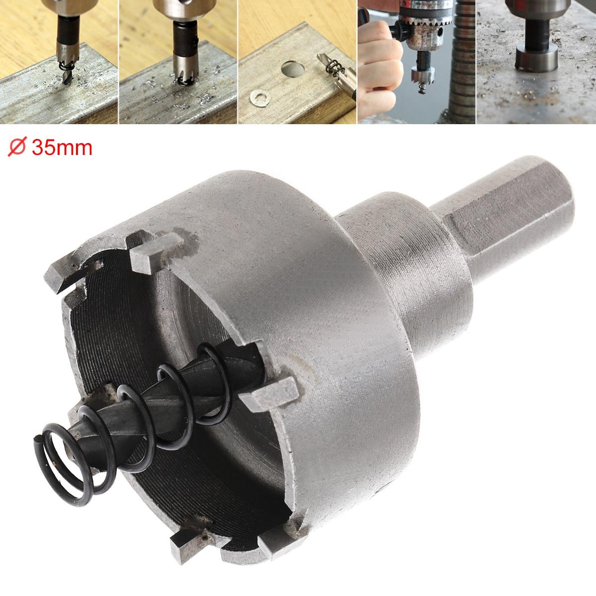 35MM/Carbide Cutter Head HSS Drill Set Hole For Stainless Steel Metal Alloy Cutter