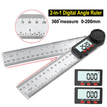 200-500mm Stainless Steel Digital Meter Angle Inclinometer Angle Digital Ruler Electron Goniometer Protractor Angle finder 360°