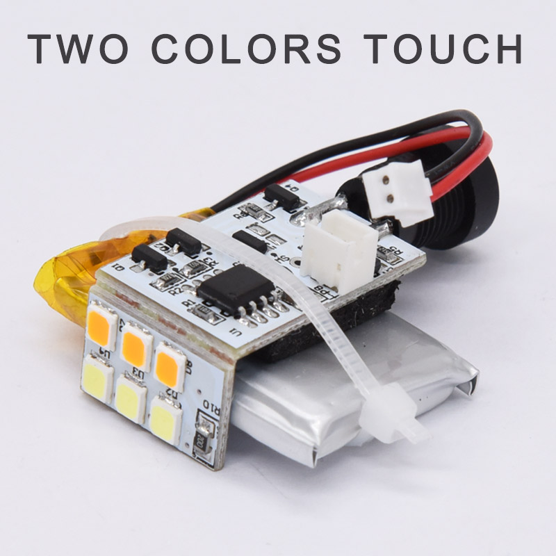 3D Moon Light Lamp LED Light Board Circuit Board Lamp Bead Sensor Yellow White With Lithium Battery
