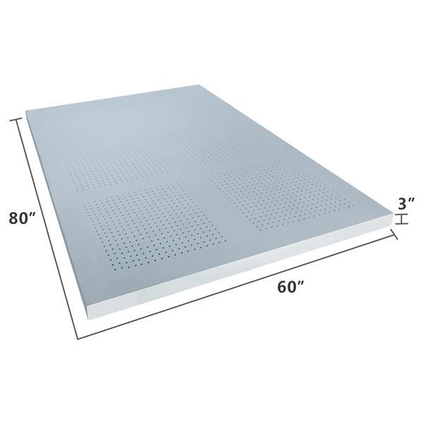 3'' Single Layer Gel Particle Memory Cotton Mattress Slow Rebound Comfort Mattress