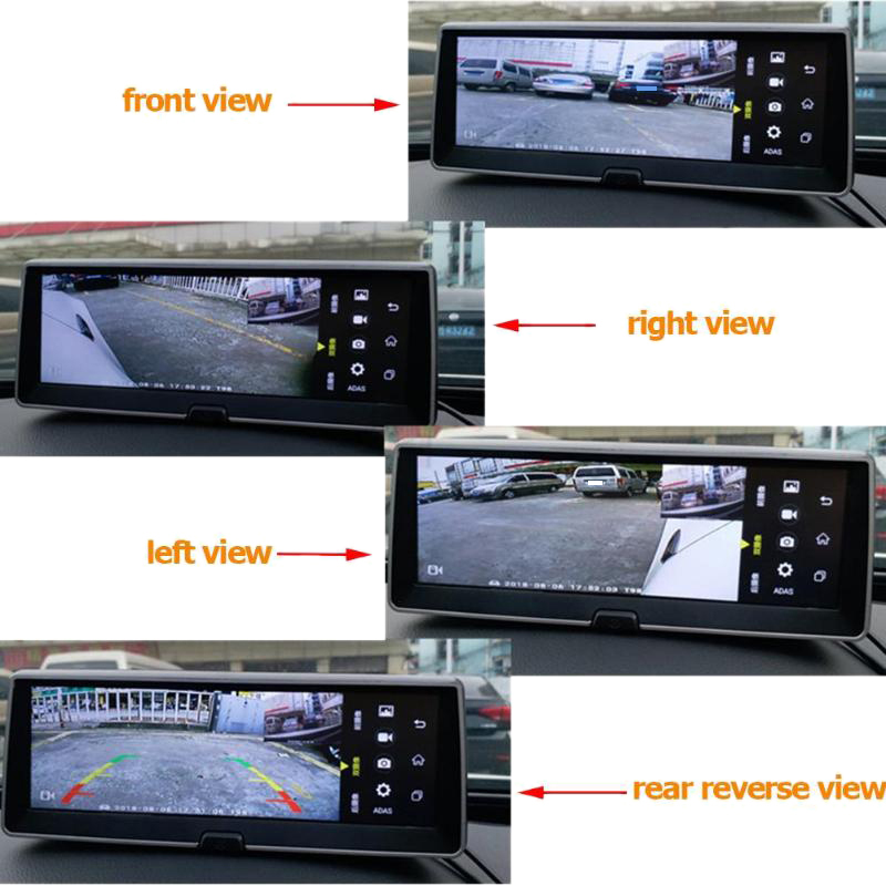 cheapest 360 Degree Panoramic Car Bird View System 4 Camera Car DVR Recording Panoramic Parking System Vehicle Safety Accessories