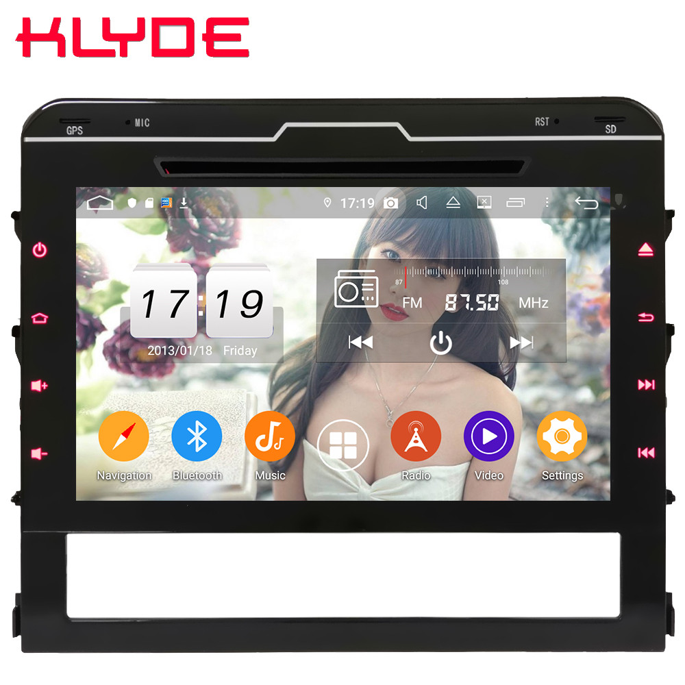 Klyde 9 IPS 4G Android 9 Octa Core 4GB RAM 64GB ROM DSP Car DVD Multimedia Player Radio For Toyota Land Cruiser LC200 2016 2019