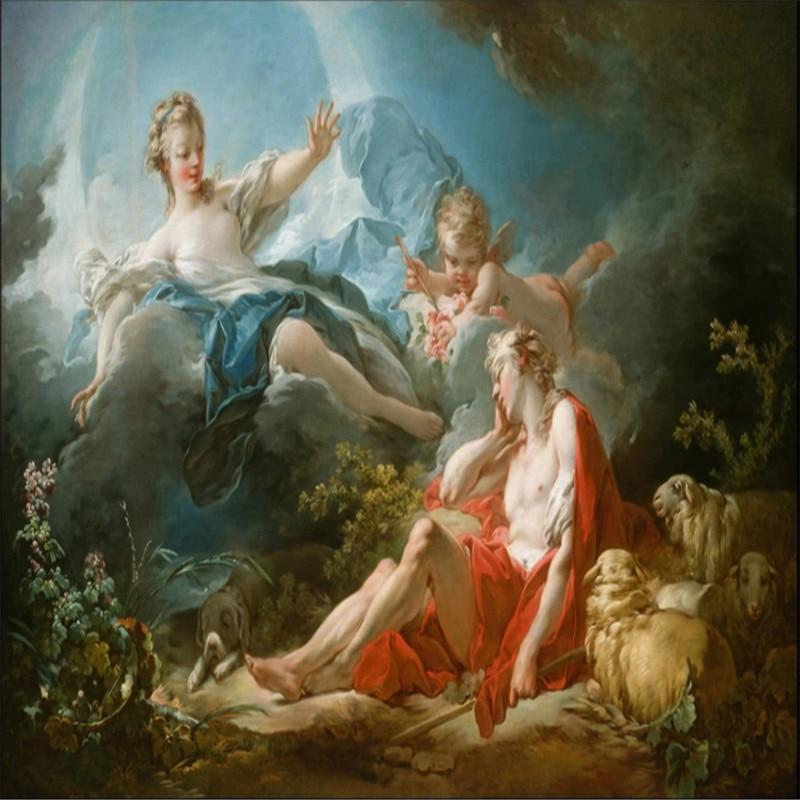 Custom Greek Mythological Oil Painting Little Angel And Goddess 3d Photo Wallpaper European Home Decor Wall Paper 3d Wall Murals Wallpapers Aliexpress