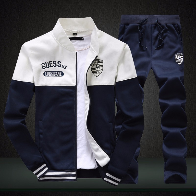 2019 Autumn New Style Sports Set Men's Spring And Autumn Teenager Students Running Couples Sports Casual Two-Piece Set Men's